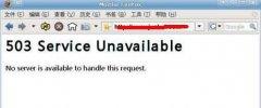 网站打开出现Service Unavailable解决方法